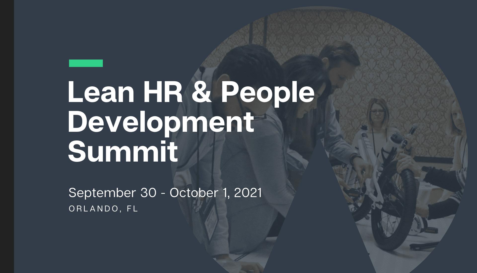 Lean HR & People Development Summit